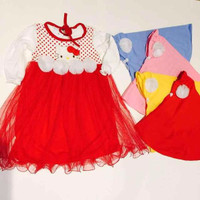 Dress Jilbab Anak Bayi Hello Kitty Tutu