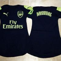 Baju Bola Anak Cewek / Baby dress bola Arsenal 3rd 16/17