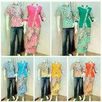 Baju Batik Couple Sarimbit Rok Lilit Pasangan Hem Kemeja Lengan Pendek