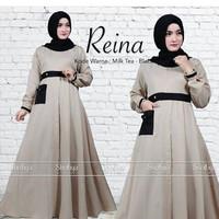 j.s Dress Murah / Dress Muslim / Maxi Dress / Reina Dress Mocca