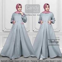 j.s Dress Murah / Dress Muslim / Maxi dress / Candy Dress Silver