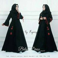 j.s Dress Murah / Dress Muslim / Maxi Dress / Belyn Dress Black