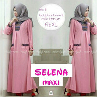 j.s Dress Murah / Dress Muslim / Maxi dress / Selena Maxy