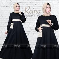j.s Dress Murah / Dress Muslim / Maxi Dress / Reina Dress Black