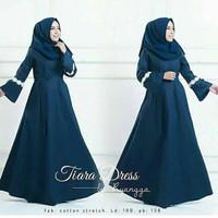 j.s Dress Murah / Dress Muslim / Maxi Dress / Tiara Dress Navy