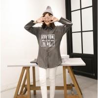 baju baseball korea wanita kemeja dress oversized big school girl