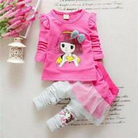 Setelan Baju Anak Cilure Pink Kids