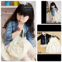 Baju Anak Branded Import Fashion Kids Girls Set Dress Jacket Jeans