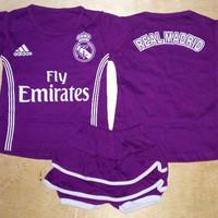 Setelan Bayi cewek /Baju Bola Anak Real Madrid Away 16/17