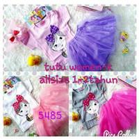 JA217 Pakaian Baju Setelan Stelan Anak Perempuan Rok Tutu
