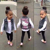 Baju Anak Perempuan | Pakaian Anak | HK vest VL setelan anak vest + in