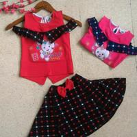 Setelan anak baby 0-5thn/ dress korea lucu cute polkadot/ dress imlek