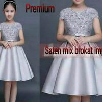 Dress Gray Jeslyn Kid Baju Anak Perempuan Lucu