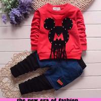 Baju Setelan Anak Perempuan | [d941 st mickey rock CR] setelan anak pe