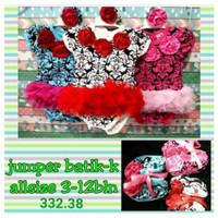 jumper bayi perempuan set 3 in 1 batik