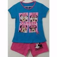 Baju Kaos Anak Set.Minnie Gliter Sz 1-6t