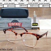 Kacamata Frame korea VINTAGE kacamata minus frame club master Vintage