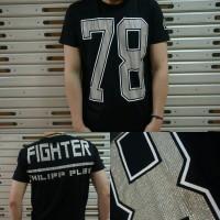 PHILIPP PLEIN kaos motek bodyfit import mirror quality