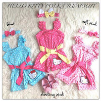 Hello kitty polka jumpsuit / baju anak bayi polkadot