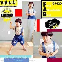 Setelan Overal Star Blue / Baju Anak Import Star BB