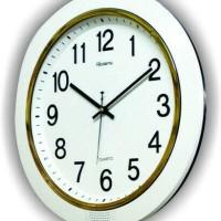 Jam Dinding Besar Diameter 40cm List Silver Rolens Murah