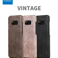 HARDCASE SOFT COVER VINTAGE LEATHER X-LEVEL SAMSUNG GALAXY S8, S8 PLUS
