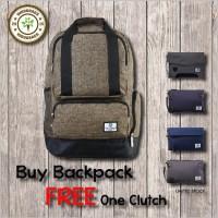 PROMO PALING MURAH MERIAH Buy 1 Get 1 (Backpack FREE Clutch/Pouchbag)