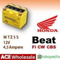 Aki Beat Fi CW CBS Honda MOTOBATT MTZ5S|kering motor u/ GS GTZ5S