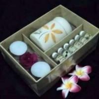Paket 6 Essential Oil Plus Burner dan 2 Lilin Aroma Terapi