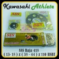 GEARSET/GIRSET/GIR SET SSS 415 ATHLETE/KAZE/ZX130 RANTAI SSS HSBT
