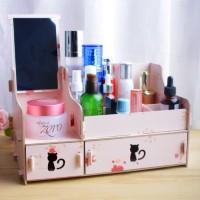Rak Kosmetik / Cermin Unik Bahan Kayu Kode 49827 Limited