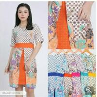 Dorisa Batik Bodycon Mini Dress