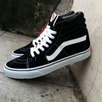 sepatu sneaker pria vans sk8 high original premium bw 39-44