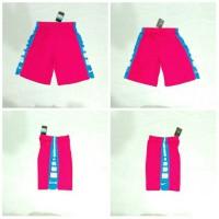 Celana Basket Nike Elite stripe Pink strip putih