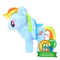Boneka My Little Pony Kuda Poni Rainbow Dash 10 inch Biru [TC1]