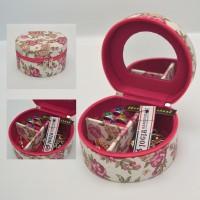 Kotak Emas Tempat Perhiasan & Aksesoris Mini / Pinky Rose Jewelry Box