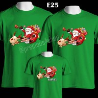 Santa Claus Is Coming Baju Natal | E25 | Kaos Couple | Family T-Shirt