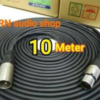 Kabel Mic konektor sound XLR canon female to XLR canon male 10 meter
