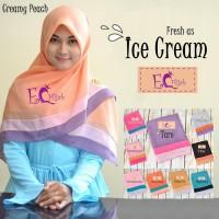 JILBAB SQUARE ICE CREAM Baru | Jilbab / Hijab / Kerudung Segi Empat