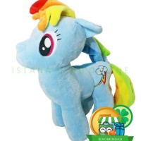 Boneka My Little Pony Kuda Poni Rainbow Dash 13 inch Biru [TC1]
