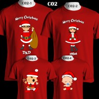 Santa Claus Family Merry Christmas | C02 | Kaos Couple Family T-Shirt