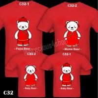 Keluarga Polar Bear CNY Baju Imlek | C32 | Kaos Couple Family T-Shirt