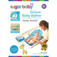 Sugar Baby Smiley Girraffe Bather - Biru