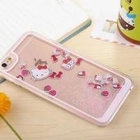 case casing iphone 6 6s 7 + plus cute unik glitter hello kitty doraemo