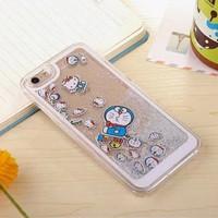 case casing iphone 7 6 6s plus + doraemon glitter cute lucu unik imut