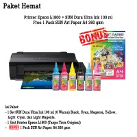 Printer Epson L1800 SUN Dura Ultra Art Paper Ink BONUS Art Paper A3