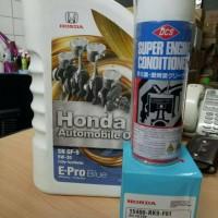 Paket ganti oli epro blue dan tune up mobil honda type 3
