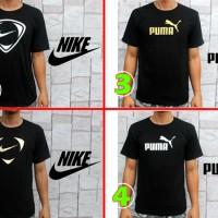 Kaos Oblong/thsirt/baju Nike Hitam Gold