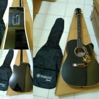 gitar akustik elektrik yamaha equalizer+tas