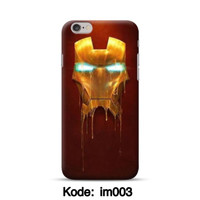 Hardcase 3D ironman untuk Iphoen 6/6s